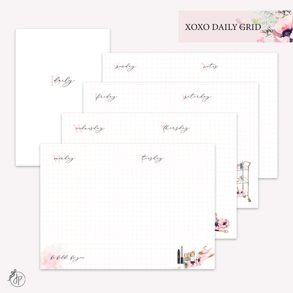 XOXO Daily Grid - A6 TN