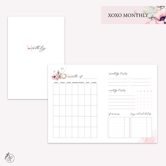 XOXO Monthly - A6 TN