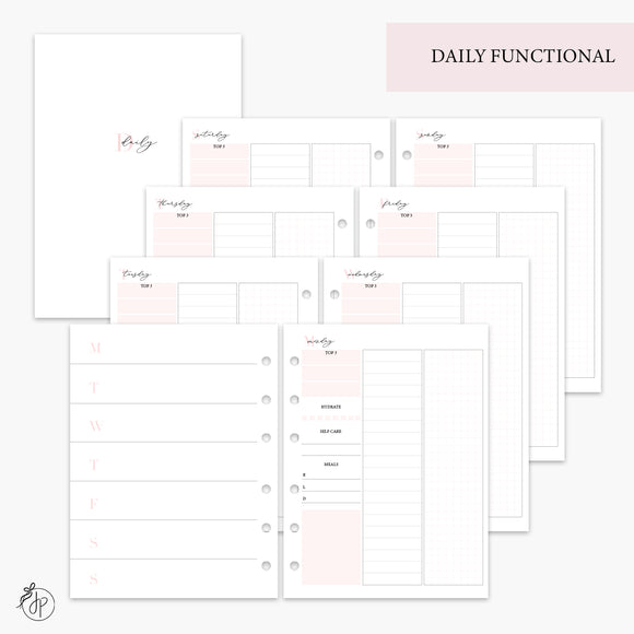 Daily Functional Pink - B6 Rings