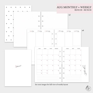 August Monthly + Weekly - B6 Rings