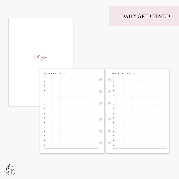 Daily Grid Timed Pink - B6 Rings