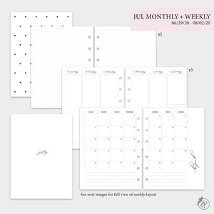July Monthly + Weekly - B6 Rings