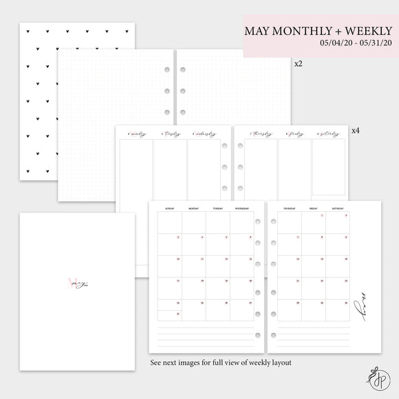 May Monthly + Weekly - B6 Rings