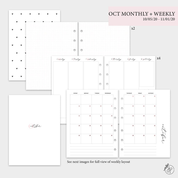 October Monthly + Weekly - B6 Rings