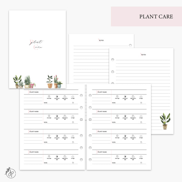 Plant Care Pink - B6 Rings
