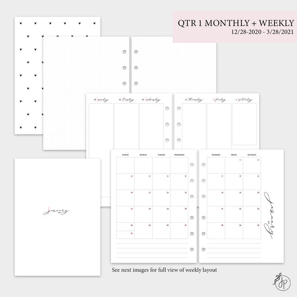 QTR 1 Monthly + Weekly - B6 Rings
