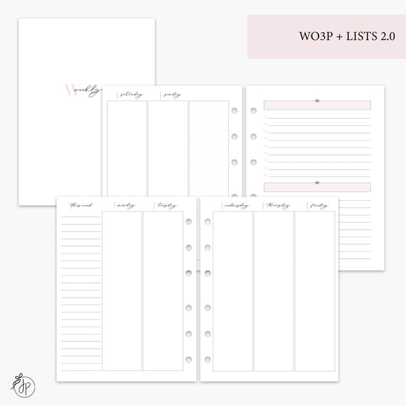 Wo3P + Lists 2.0 Pink - B6 Rings