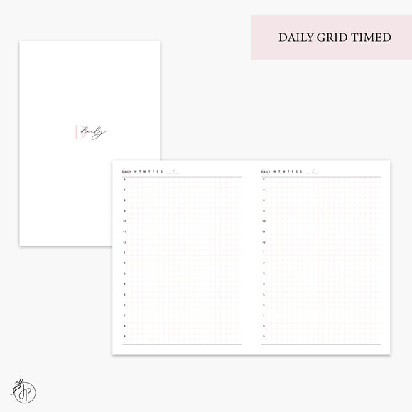 Daily Grid Timed Pink - B6 TN