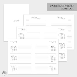 Monthly & Weekly Goals 2021 - B6 TN
