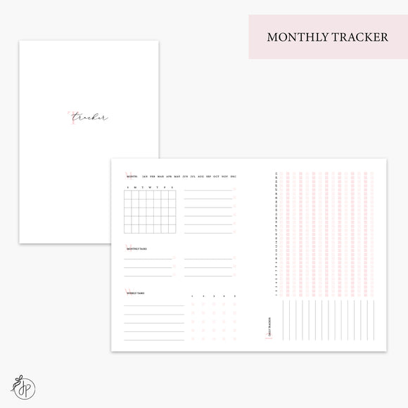 Monthly Tracker Pink - B6 TN