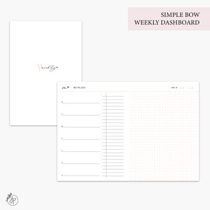 Simple Bow Weekly Dashboard Pink - B6 TN