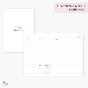 Functional Weekly Dashboard Pink - B6 TN
