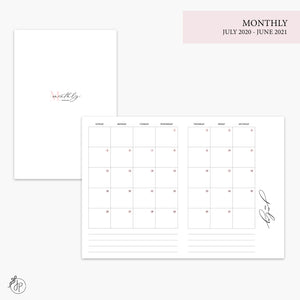 Monthly 20/21 Pink - B6 TN
