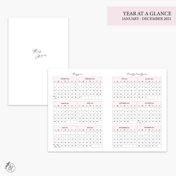 Year at a Glance 2021 Pink - B6 TN