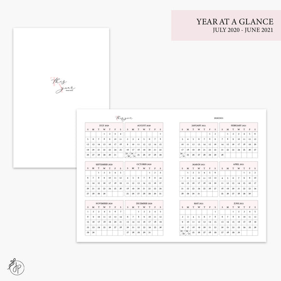 Year at a Glance 20/21 Pink - B6 TN