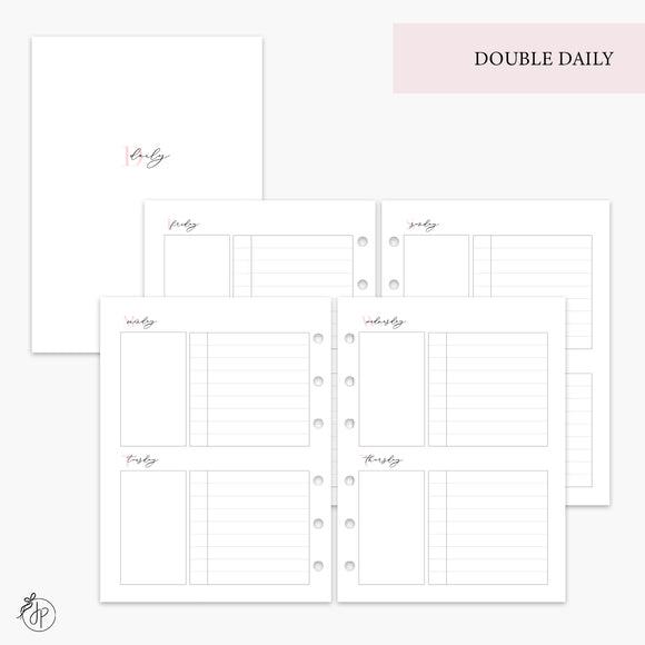 Double Daily Pink - B6 Rings
