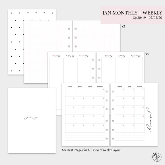 January Monthly + Weekly - B6 Rings