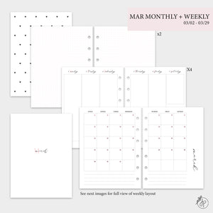 March Monthly + Weekly - B6 Rings