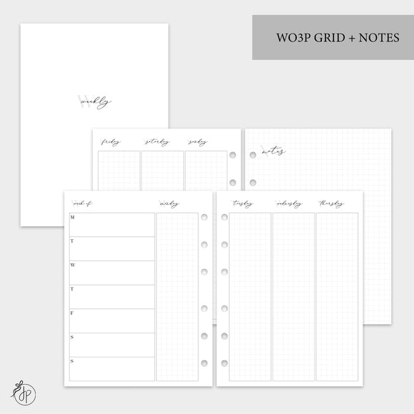WO3P Grid + Notes Grey - B6 Rings