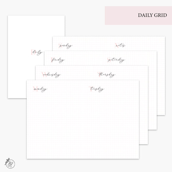 Daily Grid Pink - B6 TN