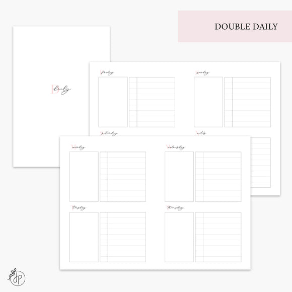 Double Daily Pink - B6 TN