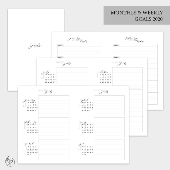 Monthly & Weekly Goals 2020 - B6 TN