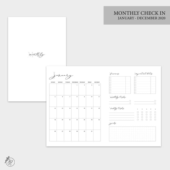 Monthly Check In 2020 - B6 TN