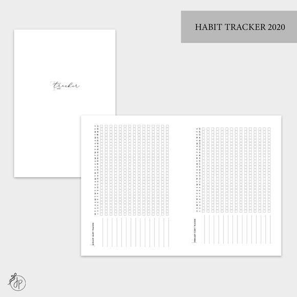 Habit Tracker 2020 - B6 TN