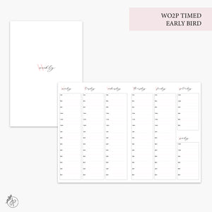 WO2P Timed Early Bird Pink - B6 TN
