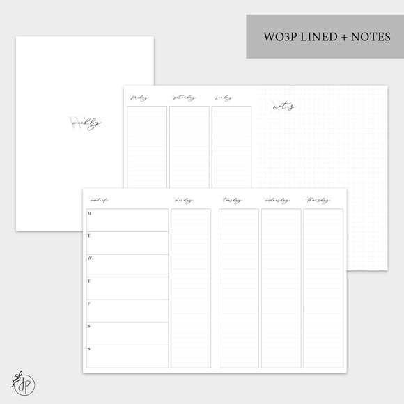 WO3P Lined + Notes Grey - B6 TN