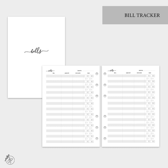 Bill Tracker - A5 Rings