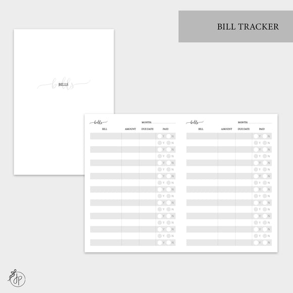 Bill Tracker - A6 TN