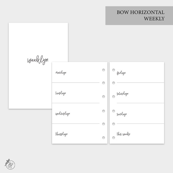 Bow Horizontal Weekly - Pocket Rings