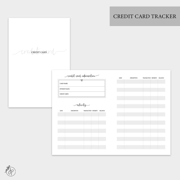 Credit Card Tracker - A6 TN