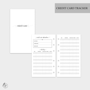 Credit Card Tracker - Personal Rings