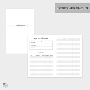 Credit Card Tracker - Pocket TN