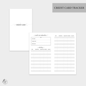 Credit Card Tracker - Personal TN