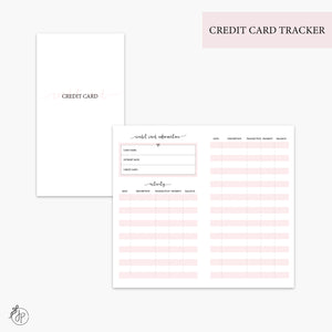 Credit Card Tracker Pink - Personal TN