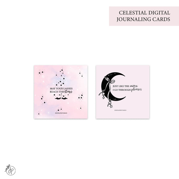 Celestial - Journaling Cards