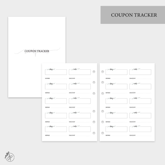 Coupon Tracker - Personal Wide Rings