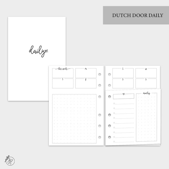 Dutch Door Daily - A6 Rings