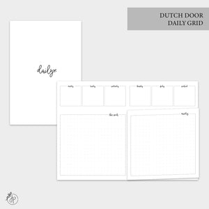 Dutch Door Daily Grid - B6 TN