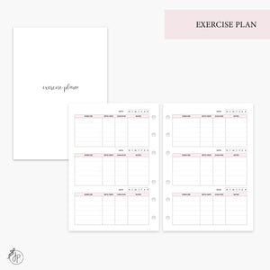 Exercise Plan Pink - Personal Wide Rings
