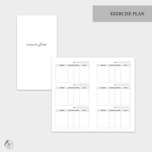 Exercise Plan - Personal TN