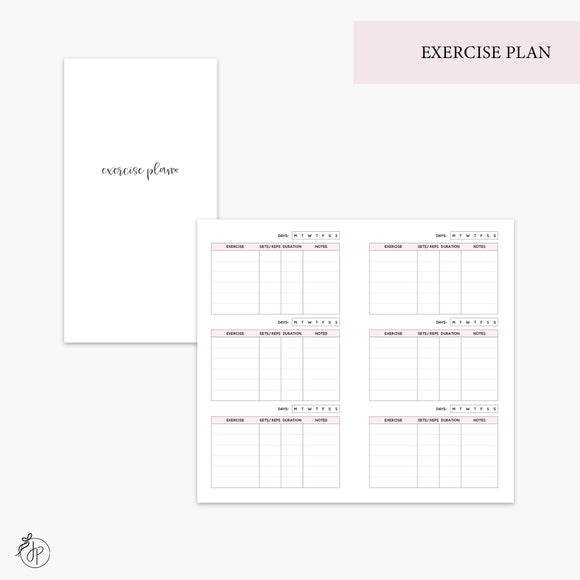 Exercise Plan Pink - Personal TN