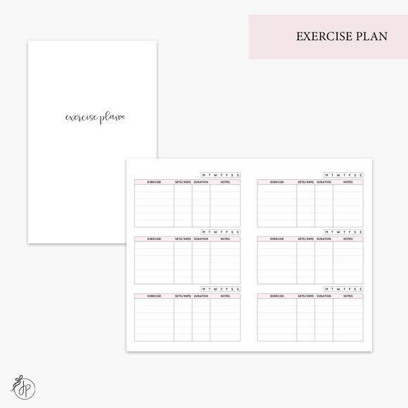 Exercise Plan Pink - Pocket TN