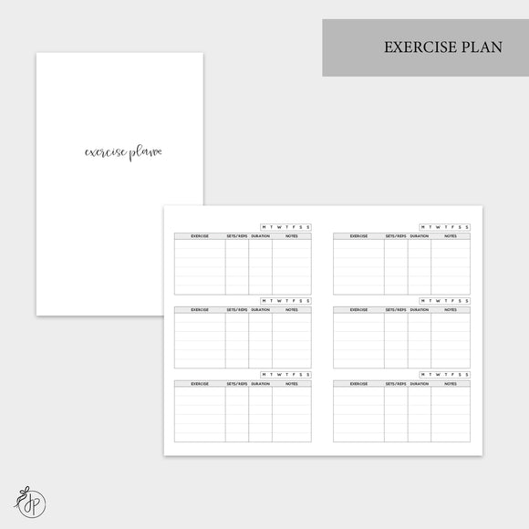 Exercise Plan - Pocket TN