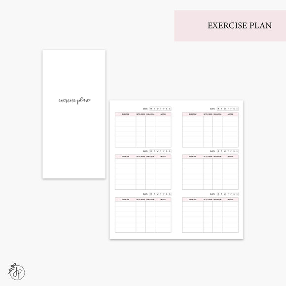 Exercise Plan Pink - Hobo TN