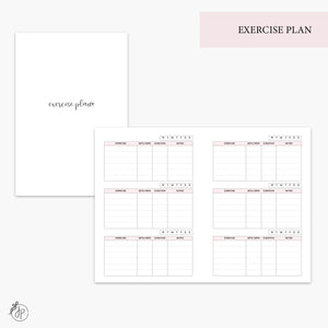 Exercise Plan Pink - A6 TN