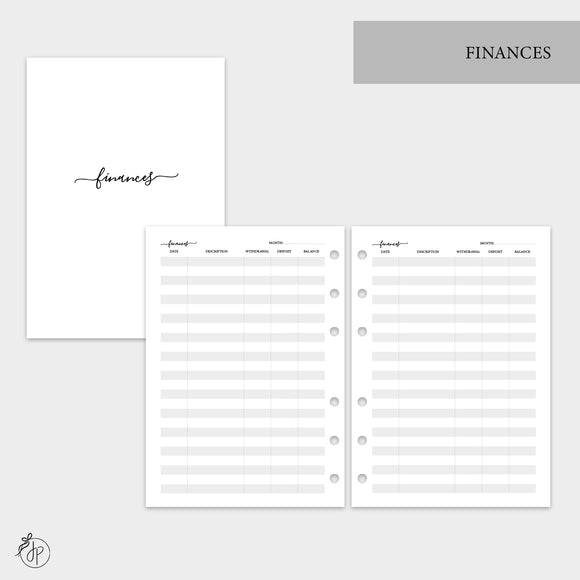 Finances - A5 Rings